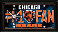 GTEI NFL Chicago Bears Metal Wall Clock
