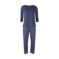 George Plus Women's 2-Piece Sleep Set Indigo Blue 2X
