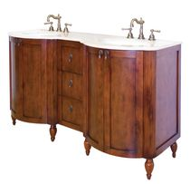 Base de meuble lavabo American Imaginations en noyer antique bois de bouleau de placage traditionnel de 59 x 21 po