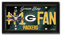 GTEI NFL Green Bay Packers Metal Wall Clock