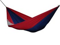 Vivere Parachute Hammock - Double Blue/Red