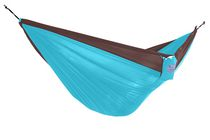 Vivere Parachute Double Chocolate/Turquoise Hammock