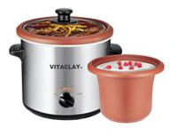 Vitaclay 2-in-1 Yogurt Maker / Personal Slow Cooker with High Fired Clay Pot