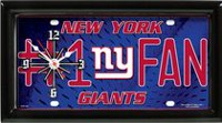 Horloge murale des Giants de New York de la NFL