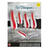 Len Thompson 5-Piece Lure Kit - Red & White