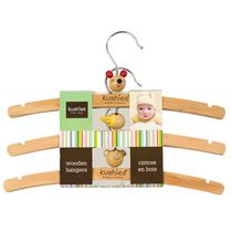 Kushies Baby Wooden Hangers, 3 Pack