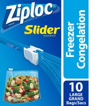 Ziploc® Slider Freezer Bags with the Smart Zip™