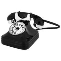 Vintage Telephone-Shaped Collectible Desktop Mini Clock