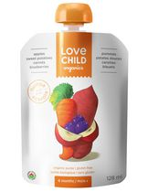 Love Child Organic'ss Gluten Free Puree - Apples, Sweet Potatoes, Carrots & Blueberries