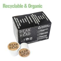 Bean Head Premium Organic & Recyclable Single Serve K Cup Coffee