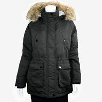 George Military Ladies Parka with Faux Fur Hood Black XS/TP