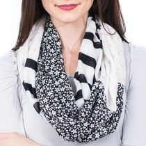 Labor of Love Ladies' Multi-functional Infinity Nursing Scarf Multi Pattern Ditzy/Stripe/Dot Print
