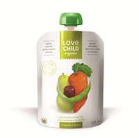 Love Child Organics Super Blends Baby Puree - Pears, Carrots, Green Beans & Prunes