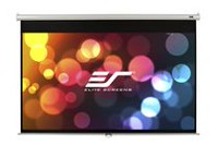 Elite Screens Manual 99-inch Pull Down Projection Manual Projector Screen with Auto Lock