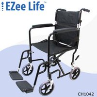 "Ezee Life 19"" Seat Width Transport Chair"
