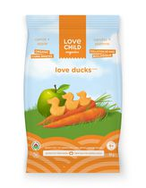 Love Child Organics Collation de maïs biologique Love Ducks  - carrotte et pomme