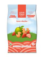 Love Child Organics Apple and Strawberry Love Ducks Snacks