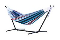 Vivere's Combo - Double Hammock with Stand (8ft) Blue/Red