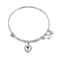 Love This Life Bangle  Strenght Birthstone