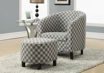 Monarch Specialties Grey Accent Chair