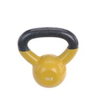 Sunny Health & Fitness Vinyl Coated Kettle Bell Yellow