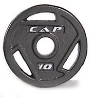 Cap Barbell 2-Inch Olympic Grip Plate, 10 lbs