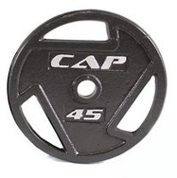 Cap Barbell 2-Inch Olympic Grip Plate, 45 lbs