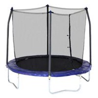 Skywalker Trampolines 8' Blue Round Trampoline and Enclosure