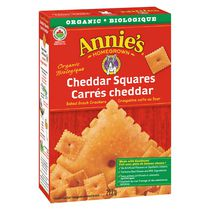 Annie's Homegrown Cheddar Squares Baked Snack Crackers