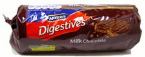 McVities Biscuits digestifs au chocolat au lait