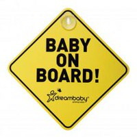 Dreambaby Baby on Board Sign with Suction Cups