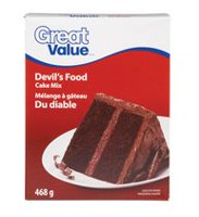 Great Value Devil's Food Cake Mix