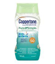 Coppertone Écran Solaire Minéral en Lotion Pure & Simple pour Enfants FPS 50