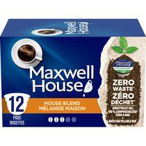 Dosettes de café Mélange maison Maxwell House compostables à 100 %, 12 dosettes