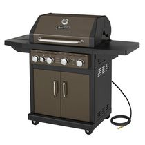 Dyna-Glo DGA480BSN 4 Burner with Side Burner Natural Gas Grill Burnished Bronze Finish