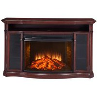 Muskoka Laurel Media Console with 33 Inches Curved Firebox, Cherry Finish