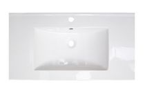 American Imaginations 32 inch width x 18 inch depth Ceramic Top In White Color For Single Hole Faucet