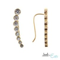 Jewels 4 Ever Gold Plated Sterling Silver CZ Ear Climber