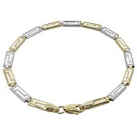 10Kt Yellow Gold High Polished Greek Key Bracelet
