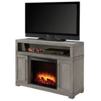"Muskoka Mackenzie 48"" Light Weathered Grey Finish Media Electric Fireplace"