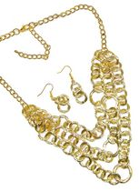 Chain Link Neckset in Gold
