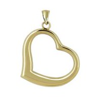 10Kt Yellow Gold Polished Open Heart Charm