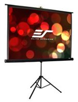 Elite Screens Tripod 119-inch Adjustable Multi Aspect Ratio Portable Pull Up Projection Projector Screen