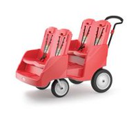 Foundations Gaggle 4 Commercial Four Seat Buggy Red