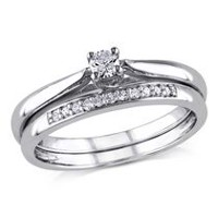 Miabella 0.17 Carat T.W. Diamond Sterling Silver Bridal Set 5