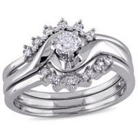 Miabella 0.25 Carat T.W. Diamond 14 K White Gold Bridal Set 7