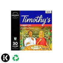 Keurig® Timothy's® Mélange du Petit Déjeuner Brun torréfaction capsules K-Cup® recyclables
