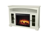 "Pleasant Hearth Easton 52"" White Finish Media Electric Fireplace"