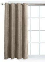 Mainstays Faux Suede Taupe Window Panel