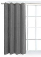 Mainstays Faux Suede Mid Grey Window Panel